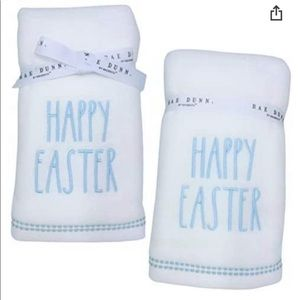 Set of 2, Rae Dunn Happy Easter Hand Towels